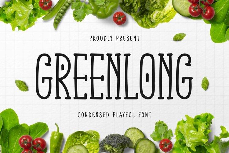 Web Font Green Long example image 1