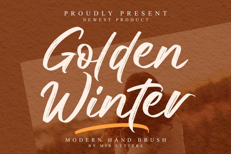 Golden Winter | A Natural Hand Brush Font