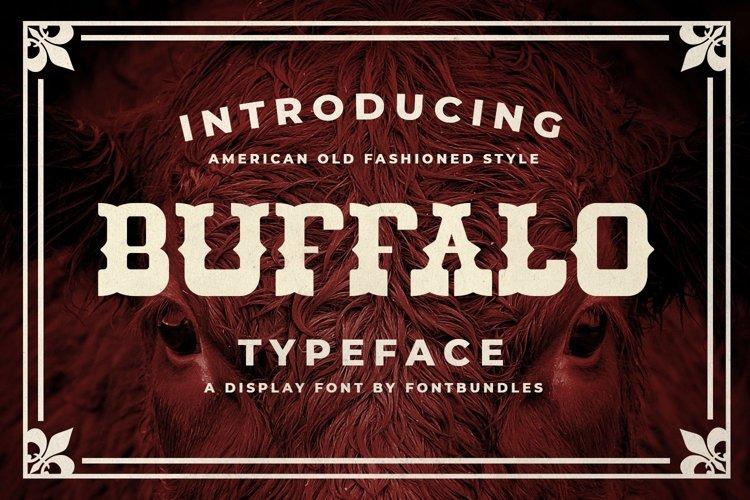 Web Font Buffalo example image 1