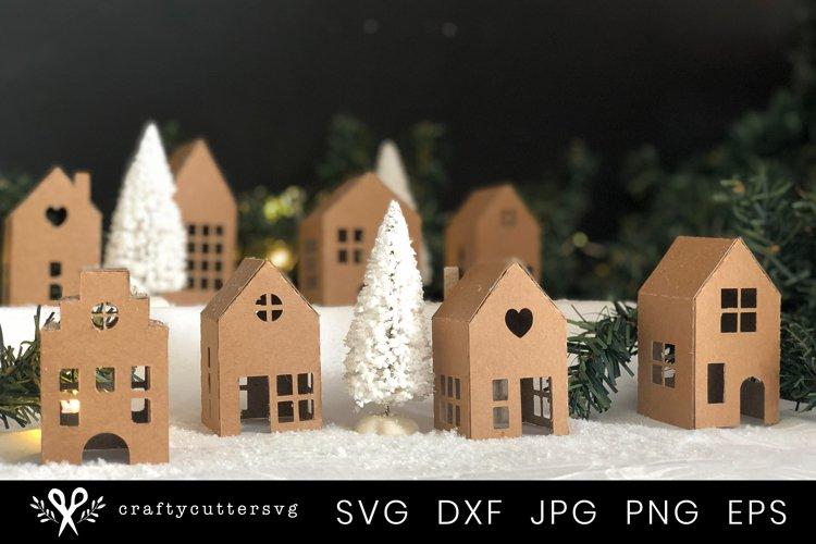 Christmas Village Svg Bundle  DIY Christmas 3D House - Free Design of The Week Font