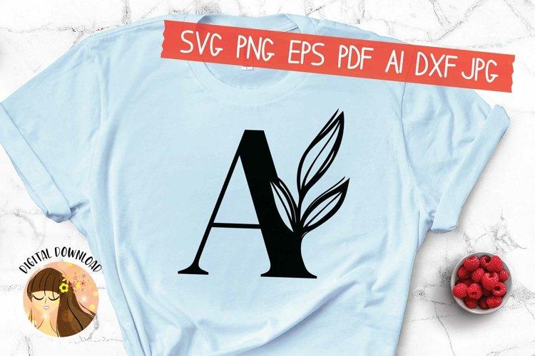 A - Floral Letter Design Svg