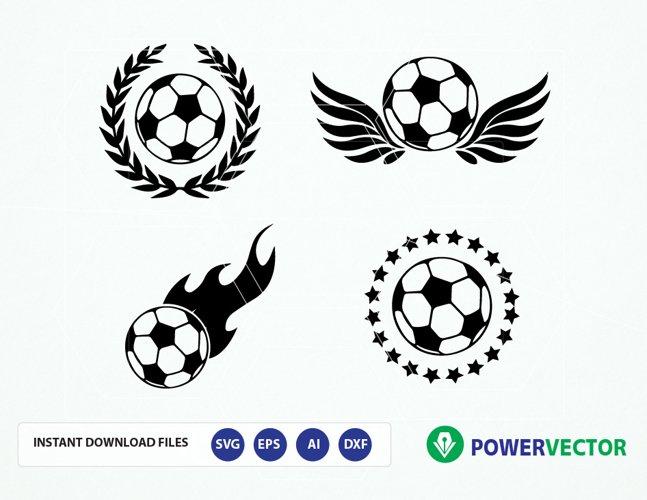 Svg file Soccer. Soccer Team Logo Vector. Soccer balls svg, dxf, png, eps files. Sports Svg Emblem Logo example image 1