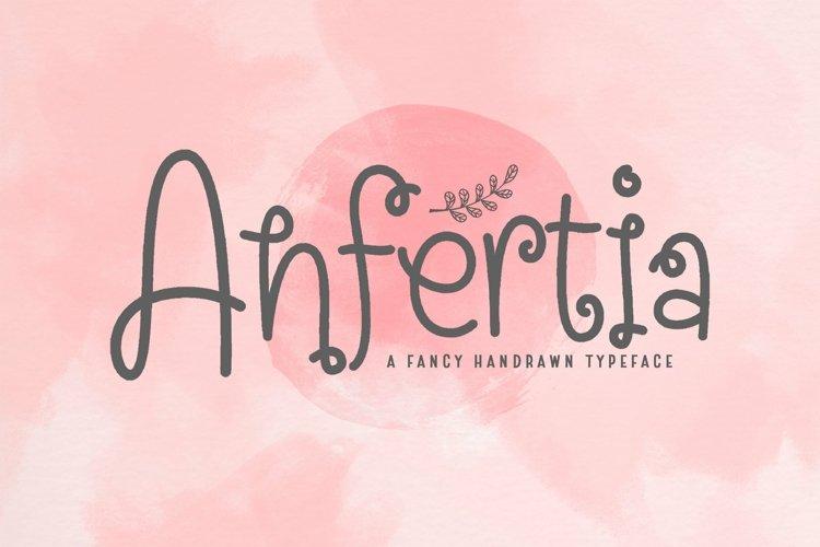 Web Font Anfertia example image 1