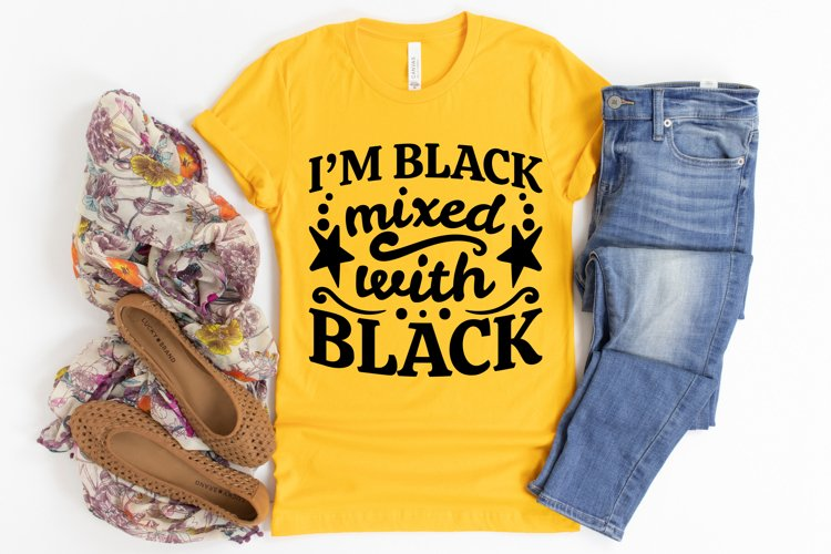 I'm Black Mixed With Black SVG, Afro Lady SVG cut files example image 1