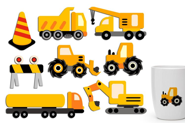Under construction clip art - construction truck crane