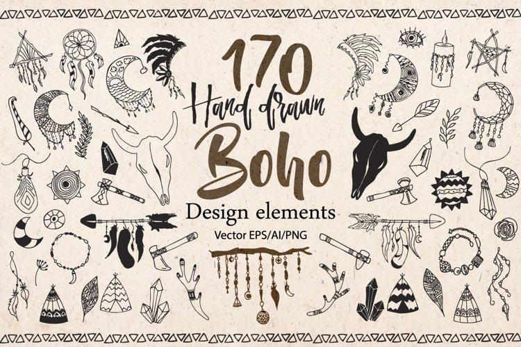 Hand drawn Boho Tribal design