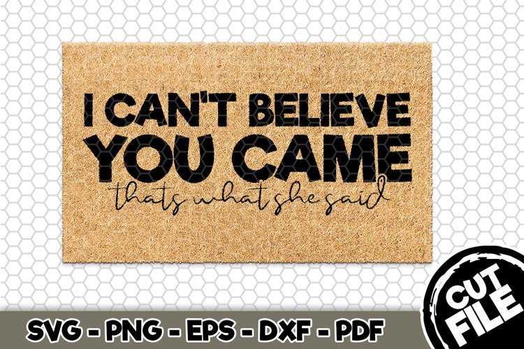 I cant believe you came - SVG Cut File n449
