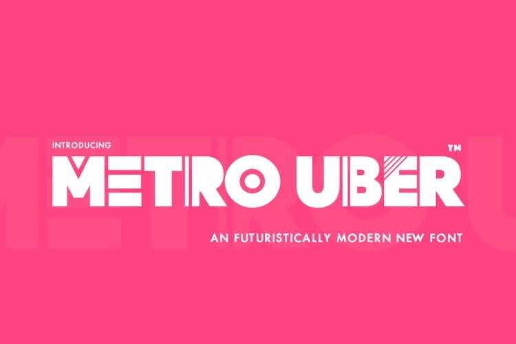 Metro Uber Font example image 1