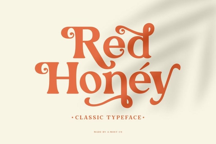Red Honey - Retro Font example image 1