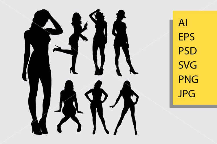 Sexy girl silhouette example image 1