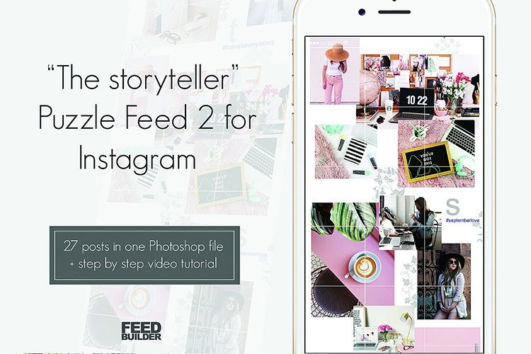 Instagram Puzzle Feed Template 2 example image 1