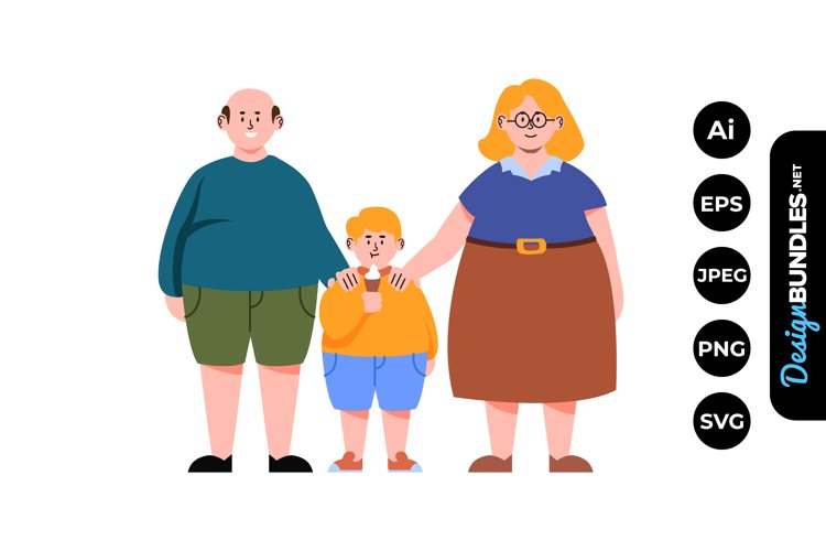 Happy Little Family Clipart example image 1