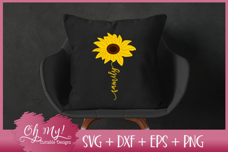 Family Sunflower - SVG EPS DXF PNG Cutting File