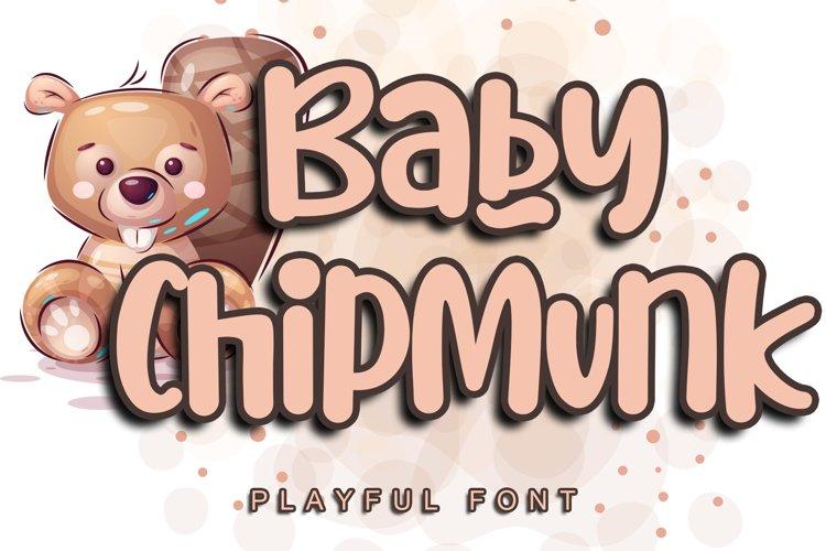 Baby Chipmunk example image 1