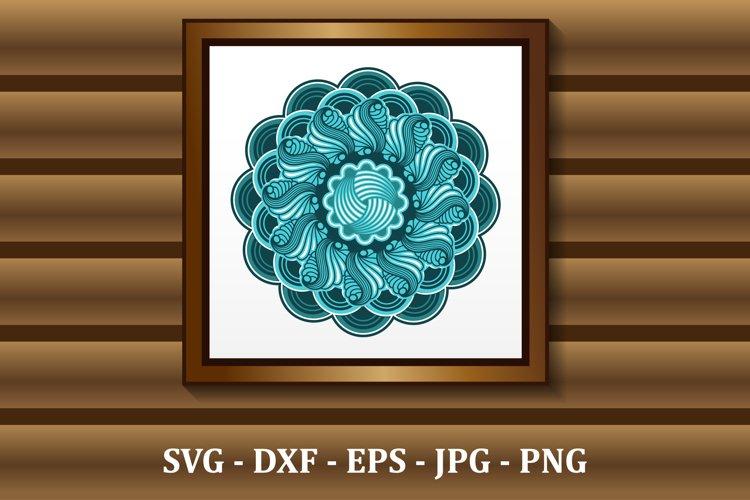 Mandala SVG files, 3D layered mandala, files for DIY craft example image 1