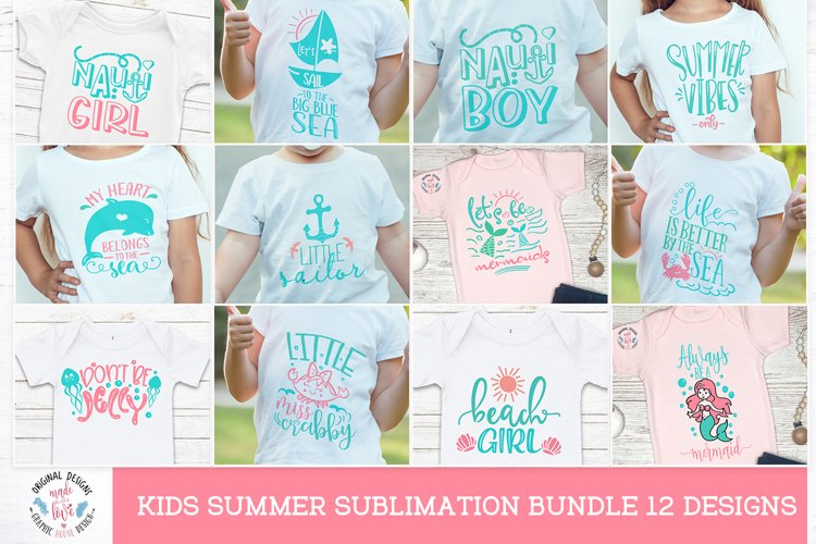 Summer Baby girl - summer baby boy sublimation for kids