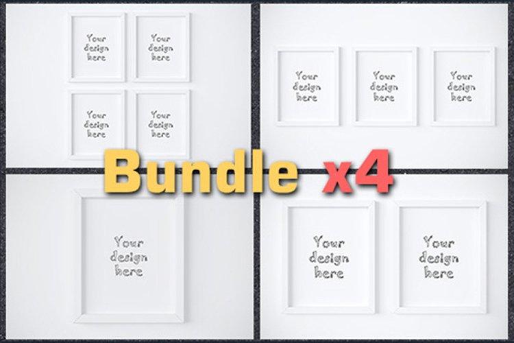 """BUNDLEx4 white frame 8x10"""" mockup example image 1"""