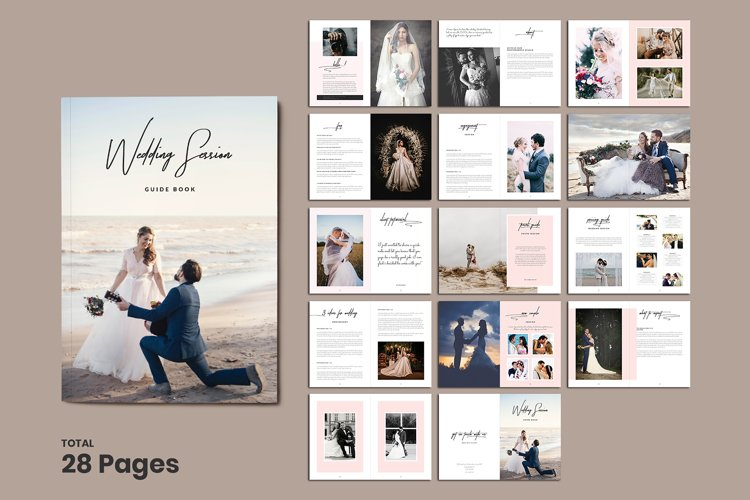 Wedding Photographer Magazine Template