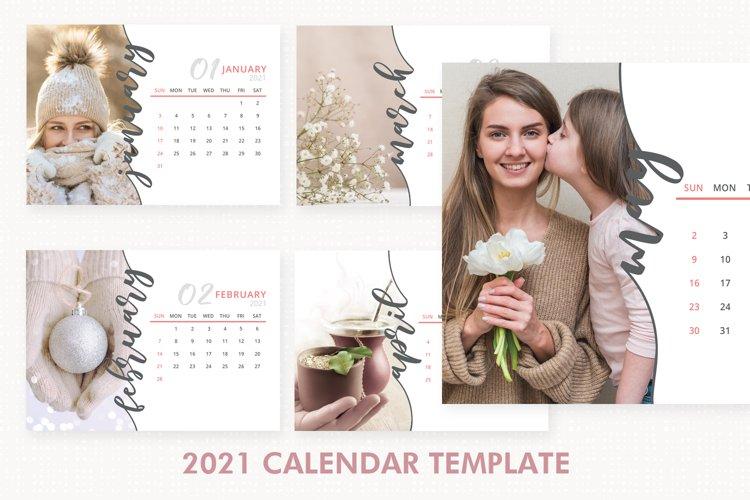 2021 Calendar Template, Desk Calendar