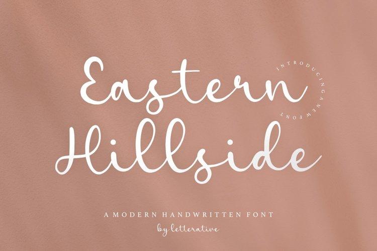 Eastern Hillside Modern Handwritten Font example image 1