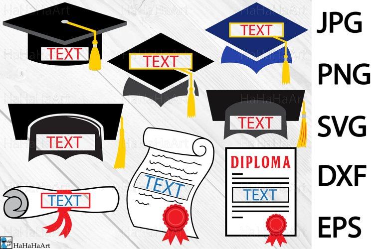 Split Graduation - Clip art / Cutting Files 216c example image 1