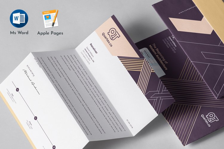 Letterhead Pad Template Word Apple Pages example image 1