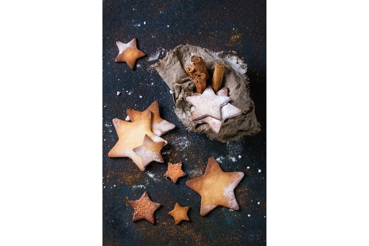 Shortbread star shape sugar cookies example image 1