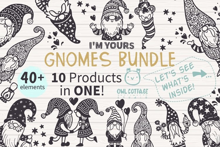 Gnomes Bundle svg , Scandinavian Gnomes SVG, Gnome Clipart, example image 1
