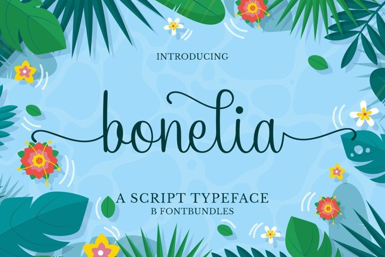 Web Font Bonelia example image 1
