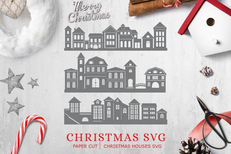 Christmas SVG / Paper Cut / Christmas Houses svg