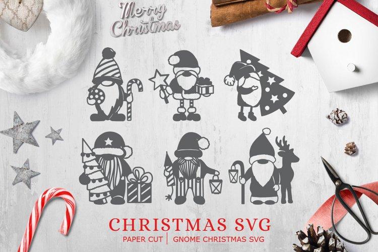 Christmas SVG / Paper Cut / Gnome Christmas svg
