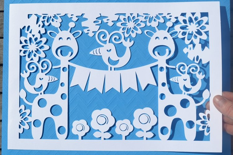 Giraffe paper cut SVG / DXF / EPS files example image 1