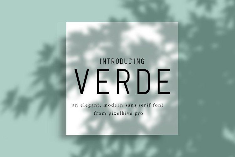 Verde Elegant Modern Font