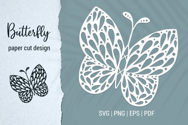 Free Butterfly Paper Cut Design Bundle for Cricut and Silhouette example 6