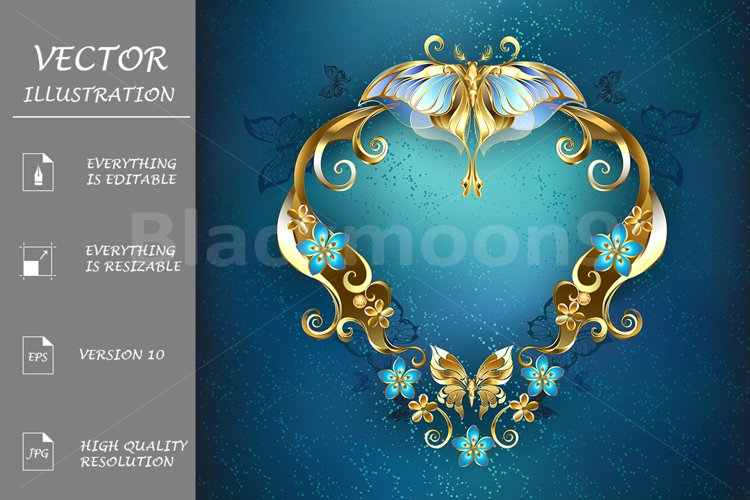 Banner with Gold Butterflies example image 1