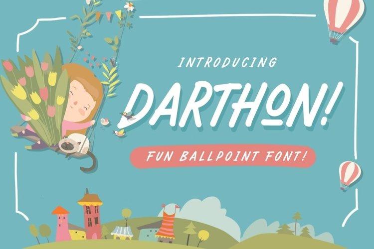 Darthon! - Fun Ballpoint Typeface example image 1