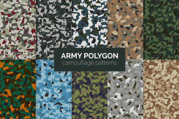 Army Polygon Camouflage Patterns example image 1