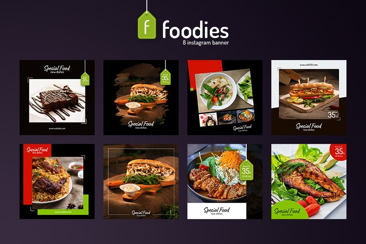 Foodie 8 Instagram Template example image 1