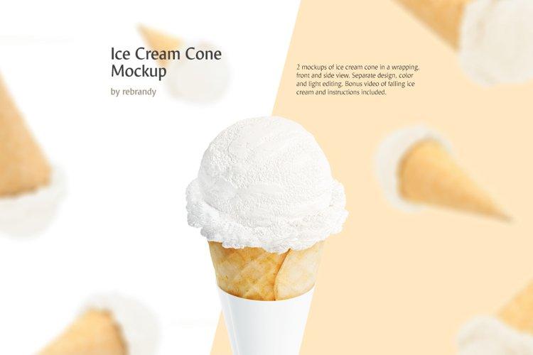 Ice Cream Cone Mockup example image 1