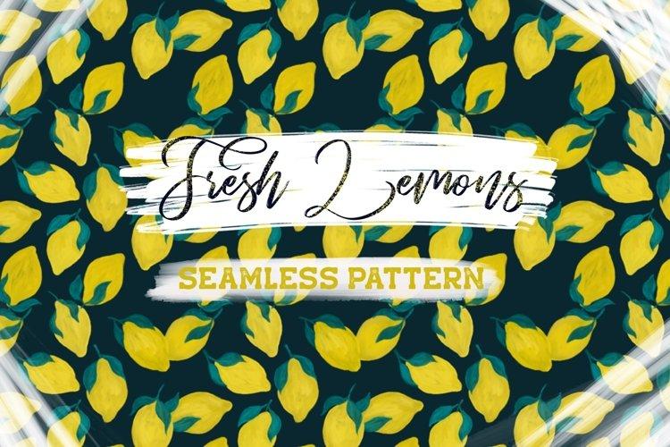 Fresh Lemons Seamless Pattern