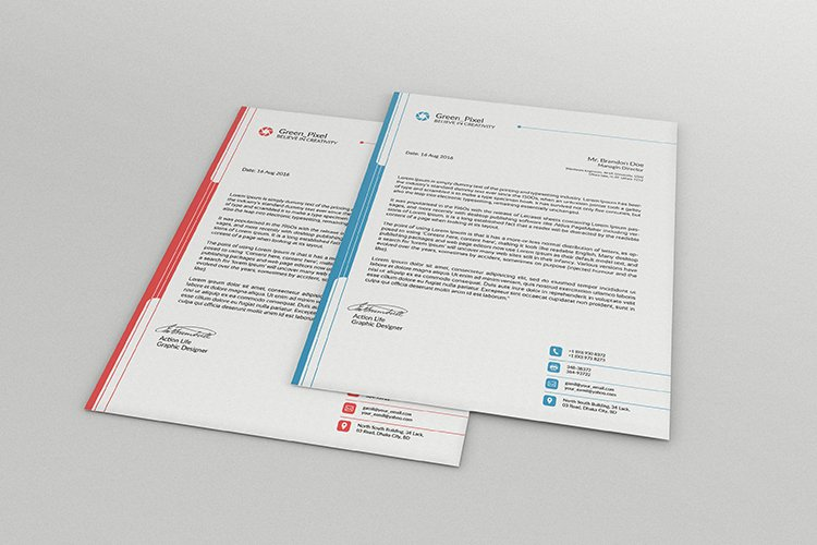 Modern quality business letterhead design example image 1