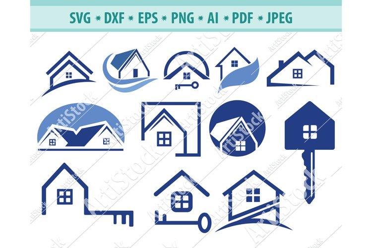 House svg, Realtor logo Svg, Real estate svg, Dxf, Png, Eps