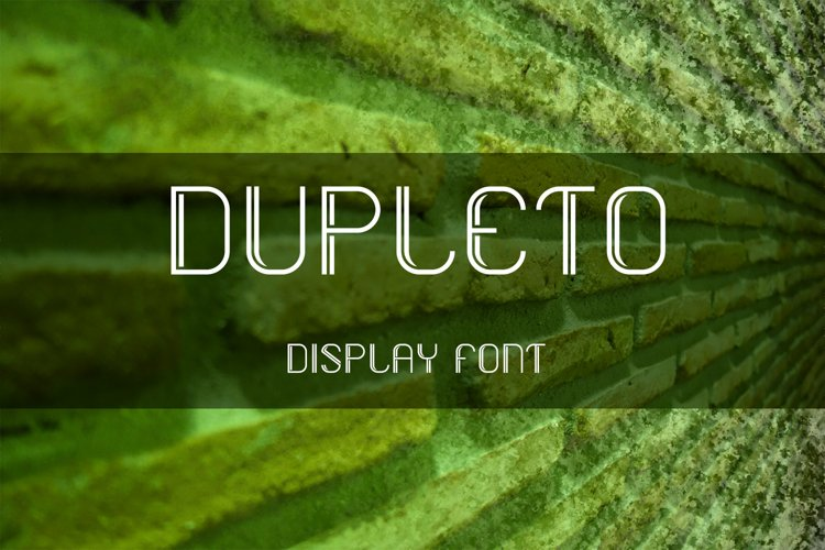 DUPLETO Display font example image 1