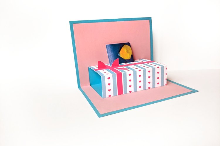 Gift Card Holder Gift Box Pop Up Card SVG & PDF Design example image 1