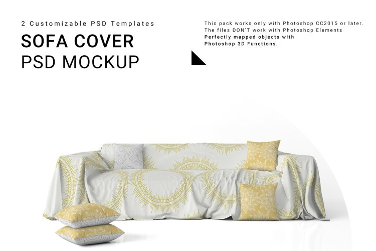 Sofa Cover and Throw Pillows Set example image 1