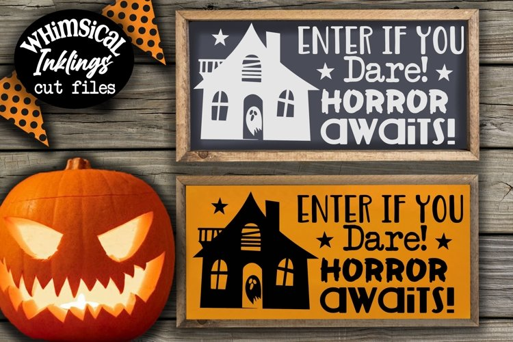 Horror Awaits-Halloween SVG example image 1