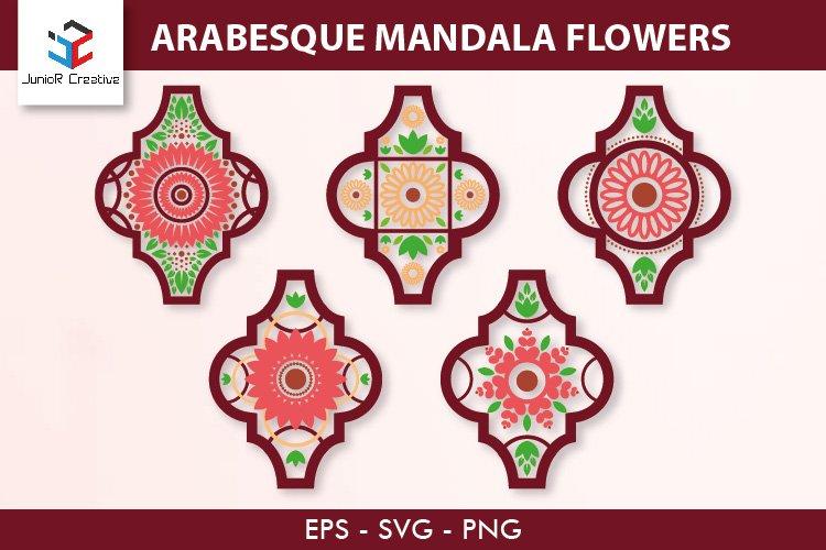 Arabesque Mandala Flowers SVG
