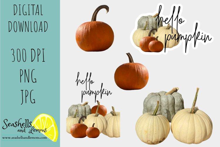 Hello Pumpkin-Blue White Orange Pumpkin Graphics