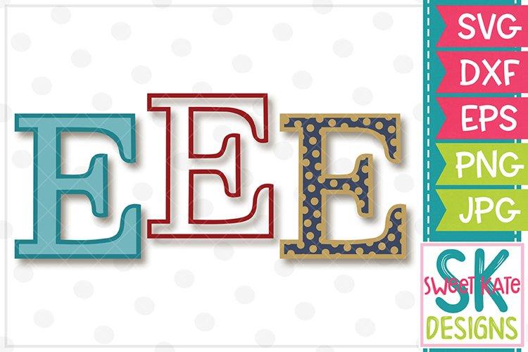 Greek Alphabet Epsilon SVG DXF EPS PNG JPG example image 1