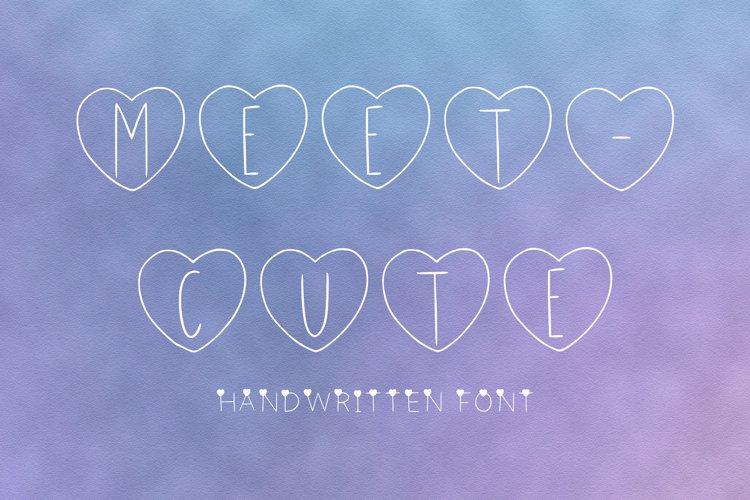 Meet-Cute handwritten font example image 1